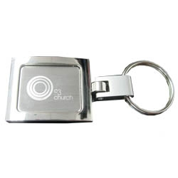 Wholesale New Square Metal Keyring