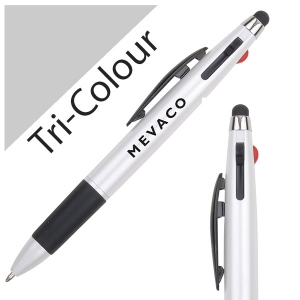 Wholesale Tri-colour pen with Stylus