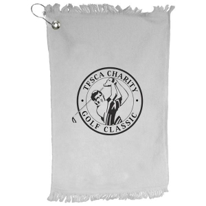 Wholesale White Value Golf Towel-[CP-27119]