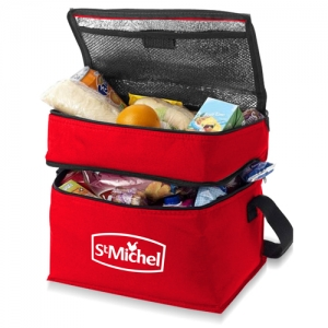 Wholesale Double Compartment Lunch Cooler Bag