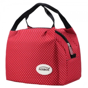 Wholesale Insulated Portable Canvas Thermal Food Lunch Bag