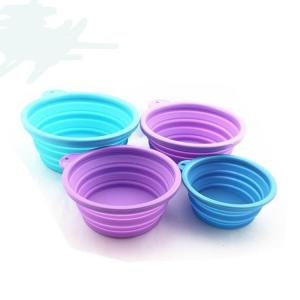 Collapsible Pet Bowl, Food Grade Silicone,BPA Free Foldable Expandable Cup Dish for Cat Food Water Feeding,traveling